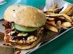 Sio Bak Burger ($5.50) + Handcut Fries ($1.50)