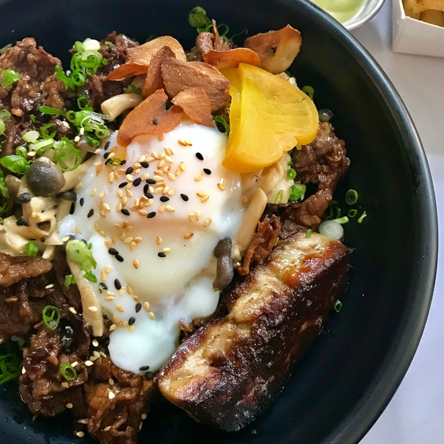 'The Epic' Beef Gyudon with Foie Gras ($25)