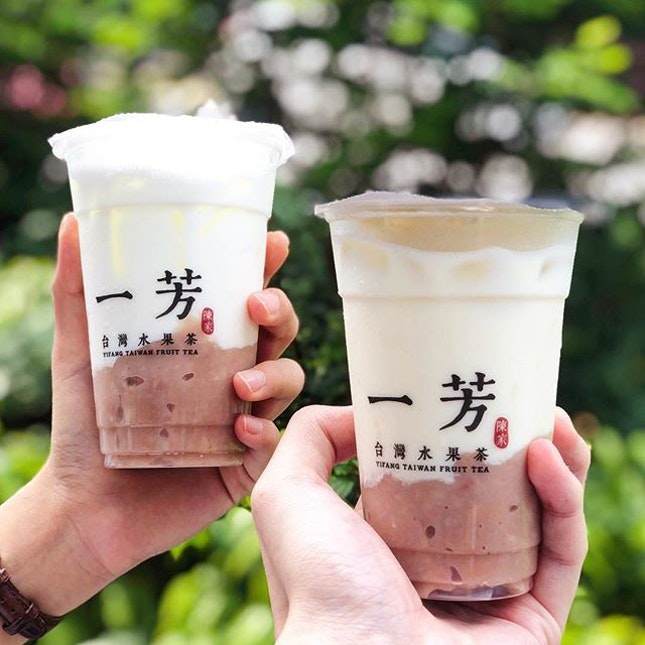 @yifangtea.sg has launched two new taro drinks (Taro Latte / Taro Green Tea Latte) in their menu, and going at a promotional price of $5 (UP $5.70) each till today.