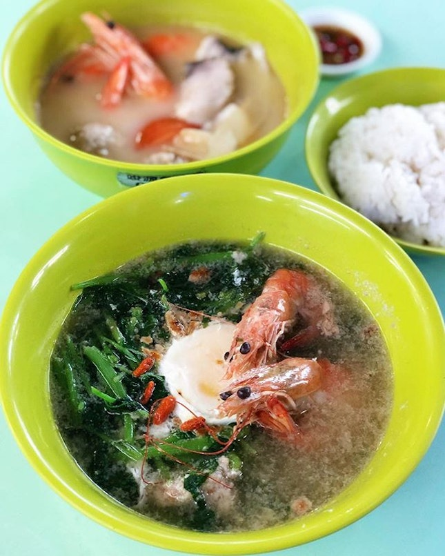 Chinese Spinach Seafood Soup with Wolfberries ($6/ $7/ $8)