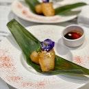 """Golden Eggplant (Part of 8-course """"台 Iicious"""" Set Menu) - $38.80 Per Pax"""