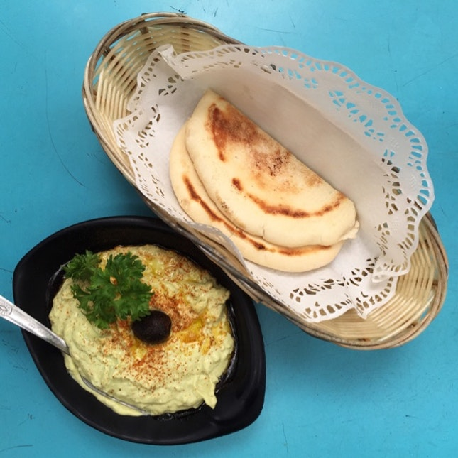 Avocado Dip and Pita Bread ($6 + $1.50)
