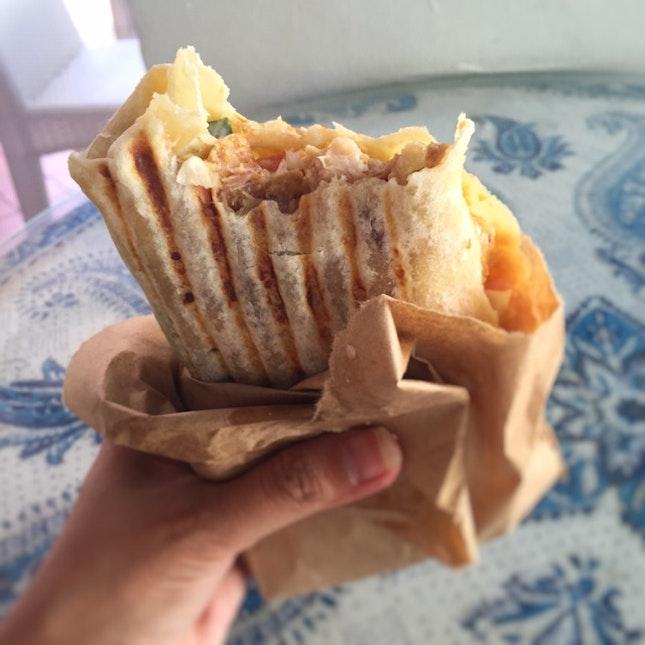 Hummus and Chicken Shawarma Kebab ($10)
