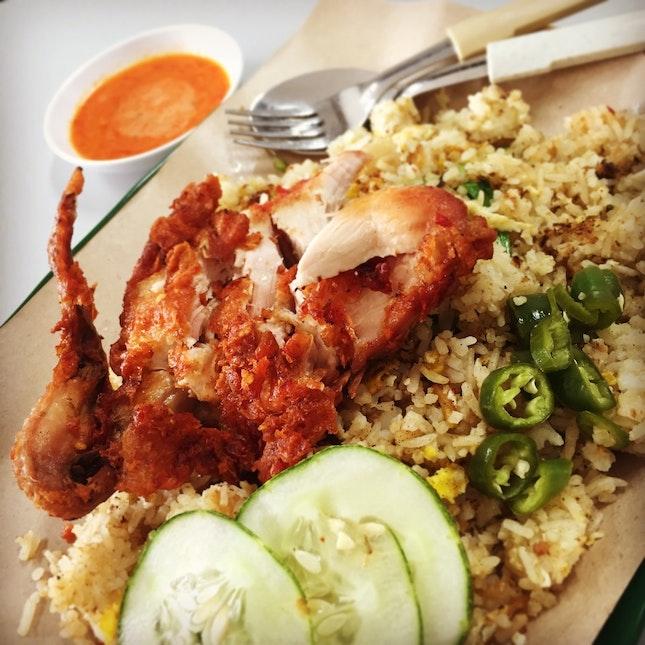 Nasi Goreng with Ayam Goreng ($5.50)