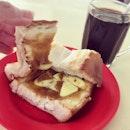 Charcoal Toasted French Loaf Kaya Toast