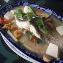 Steamed Seabass Teochew Style ($28)