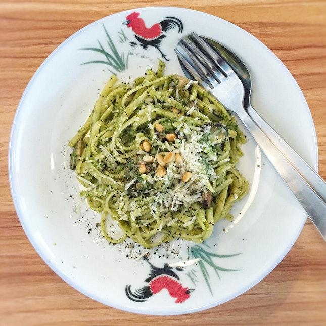 Fresh Pesto Pasta ($12)