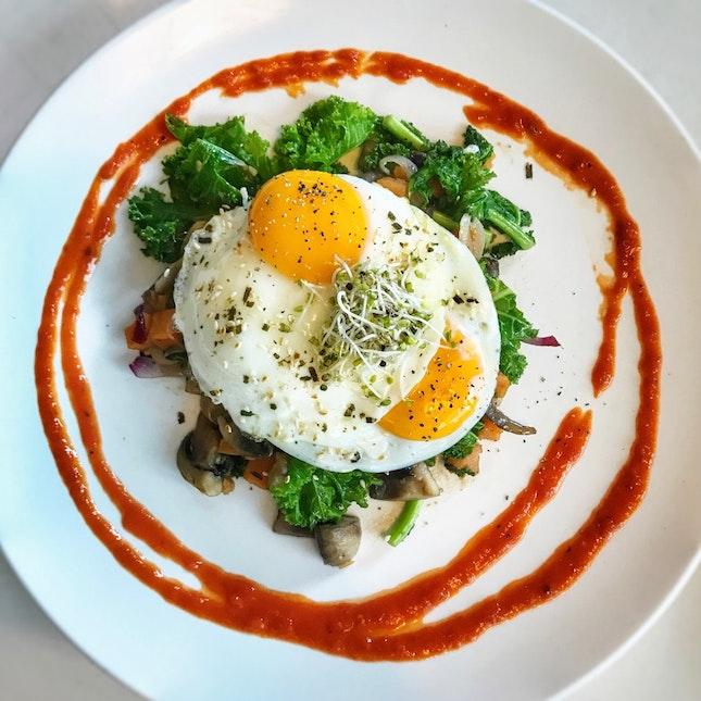 NEW On The Menu: Kale & Sweet Potato Hash ($18++)