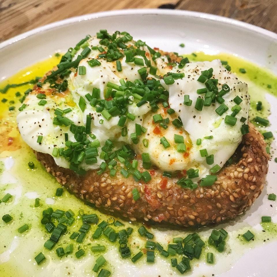 Poached Eggs & Koulouri (Price: $22++)
