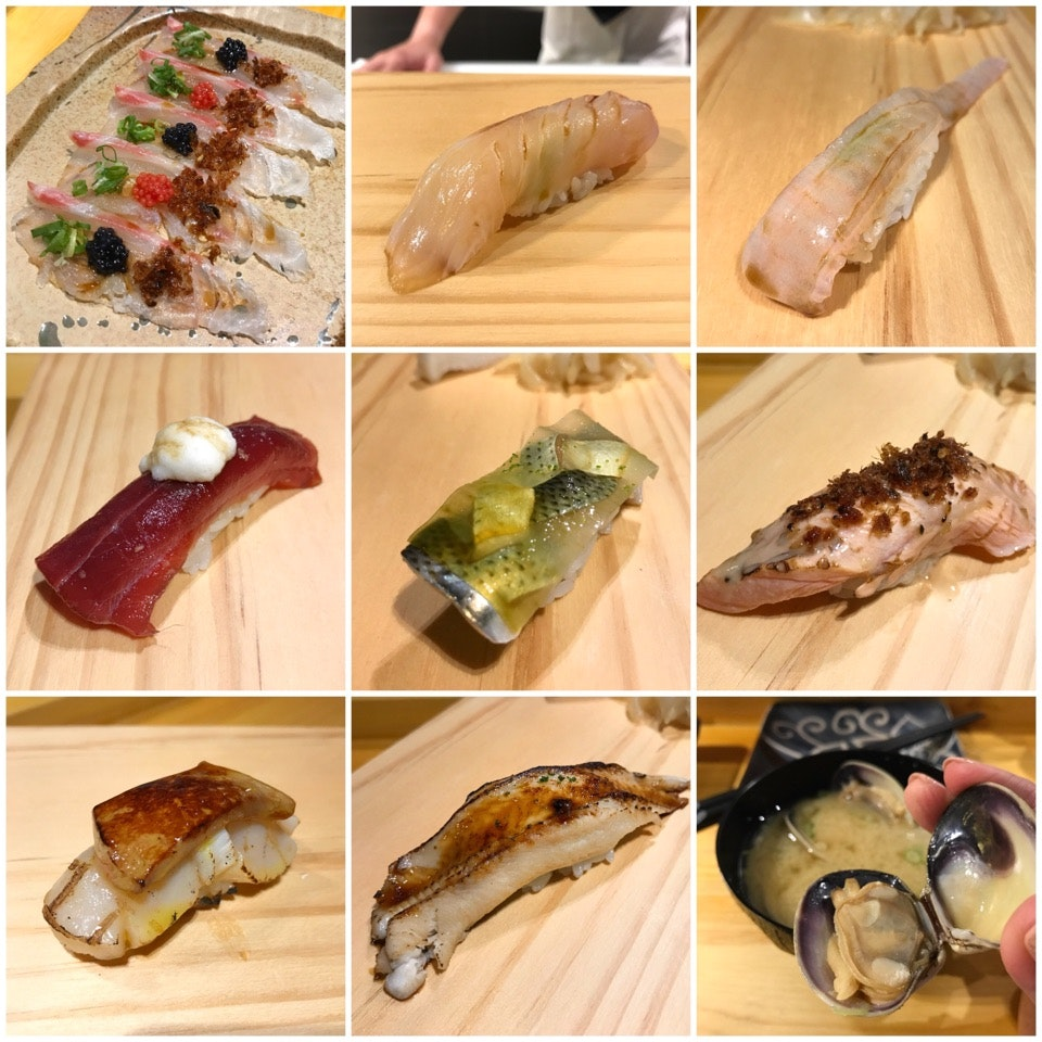 The Appetiser and Sushi from my $98++ Omakase Dinner