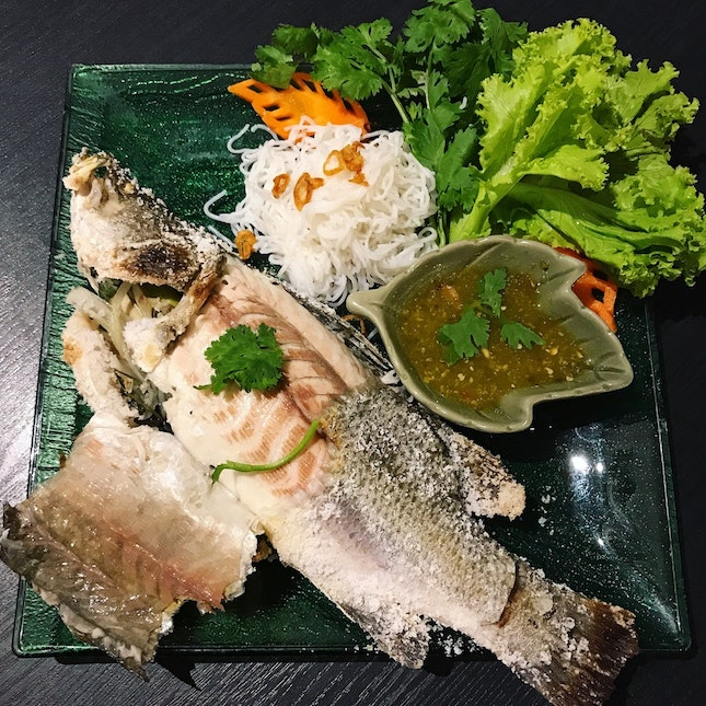 BBQ Traditional Sea Salt Baked Fish