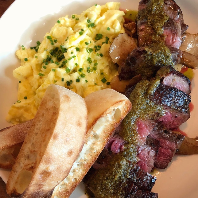 New For Weekend Brunch: Steak & Eggs ($28++)