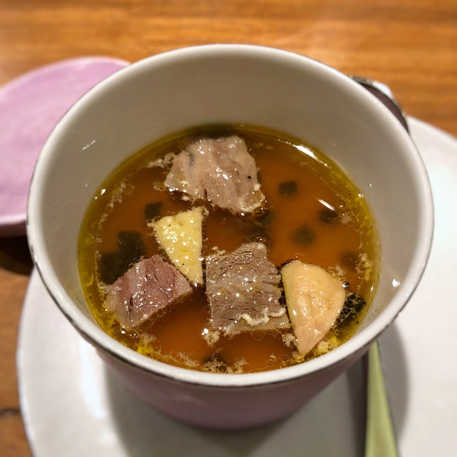 Kobe Beef Consommé (Part of the Degustation Menu)