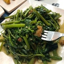 Kangkong Stirfried With Garlic