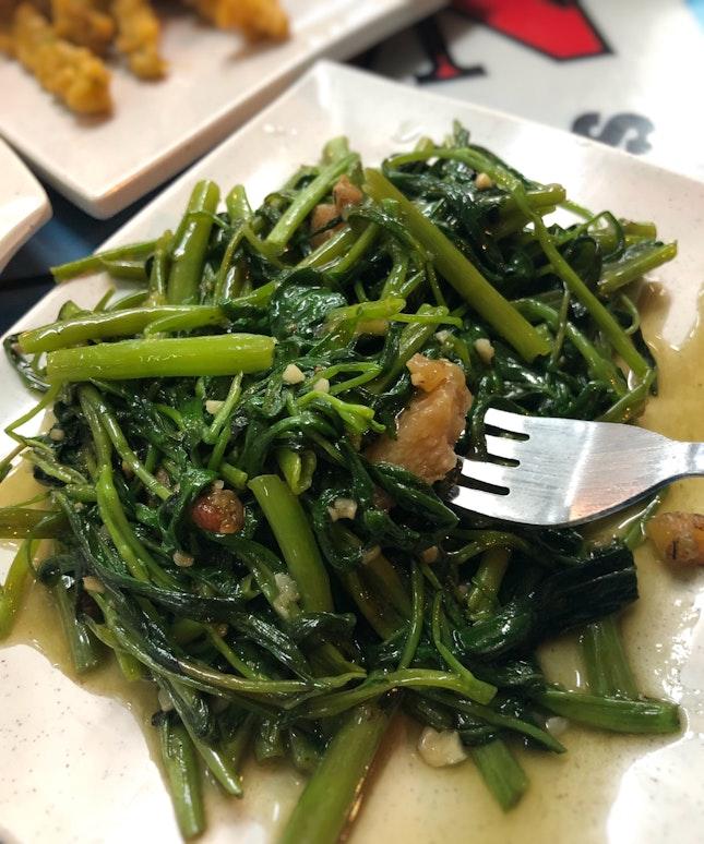 Kangkong Stirfried With Garlic