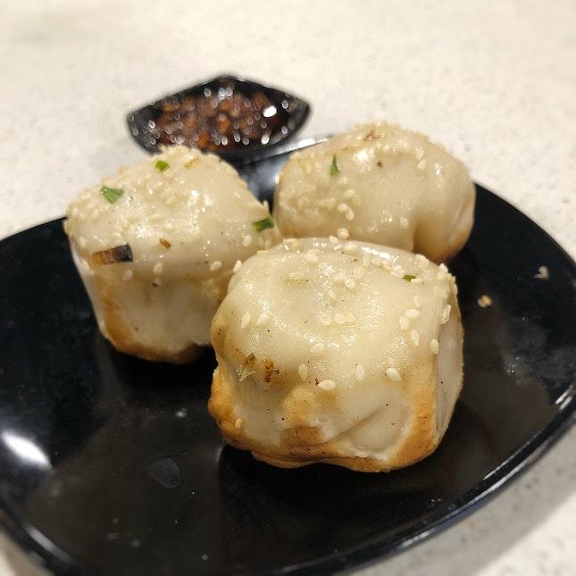 生煎包 Shanghainese Pan-Fried Dumplings ($5.90 for 3 pieces).