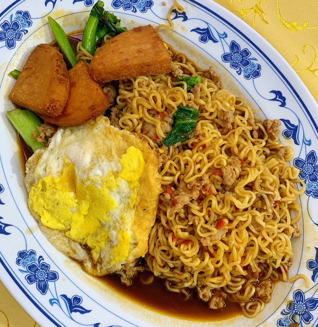The Off-The-Menu Stirfried Instant Noodles ($7)