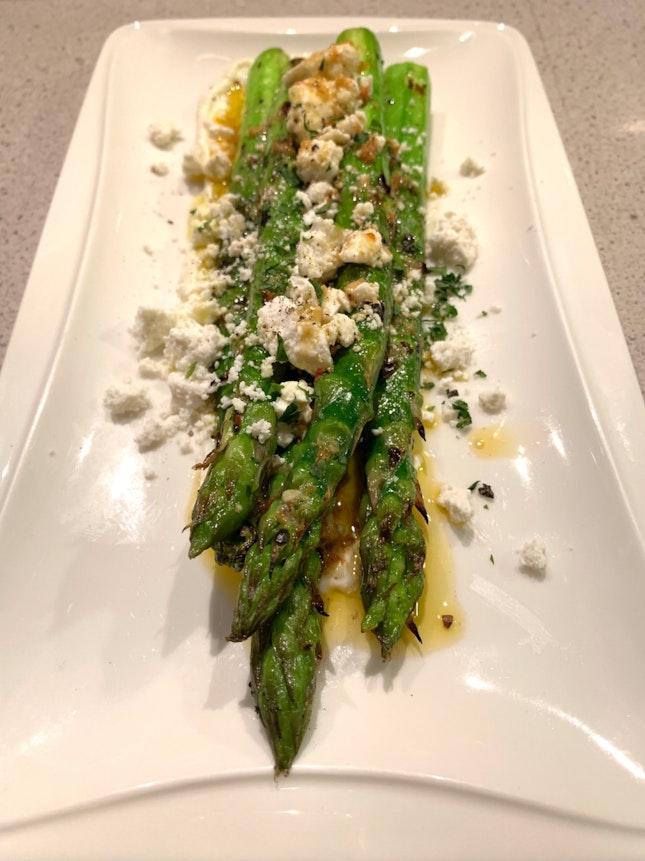To Start: Succulent Asparagus ($15++)