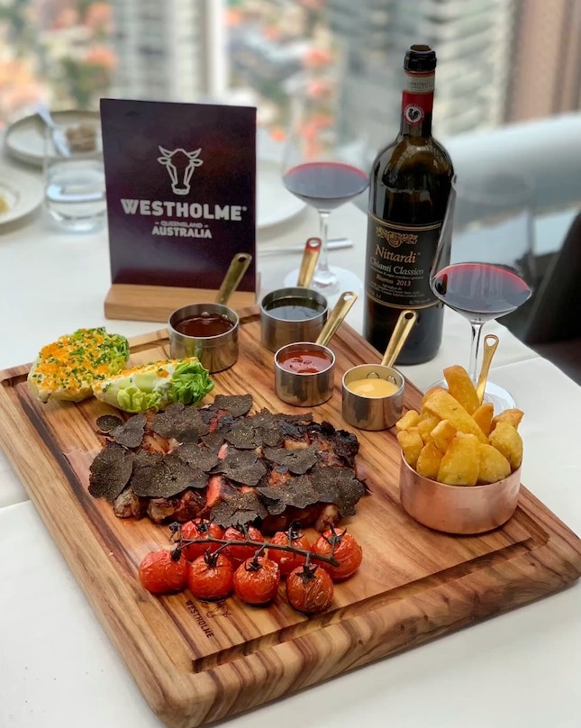 """From Now Till 31st October - Enjoy The Special """"Meat To Share - Westholme Wagyu Platter For $228++."""