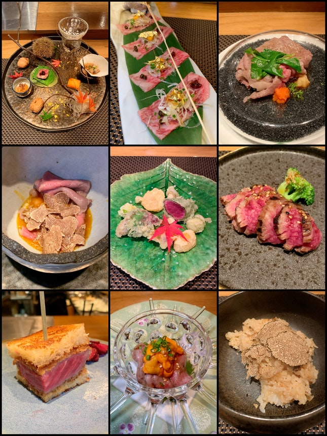Wagyu beef lovers, this seasonal Omakase Dinner Menu has your name on it ($250++ per pax).