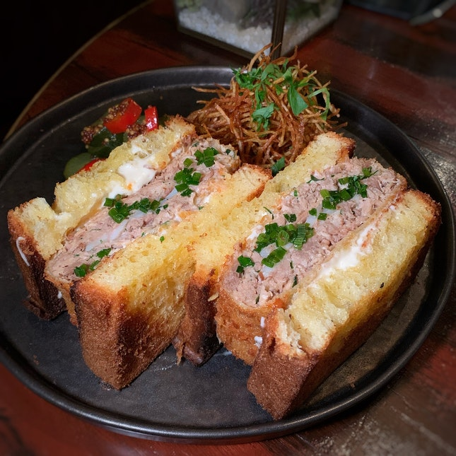 "A Sandwich Featuring ""The Epitome Of Japanese Pork"" ($48++)"