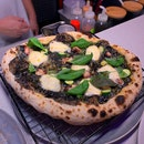 """""""Pizza Black"""" - One Of The Courses From The Omakase Menu ($125++ per pax)"""