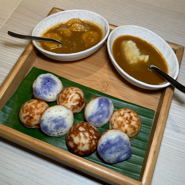 Apom With Two Kinds Of Pengat (Part Of The Tasting Menu: $88++ per pax).