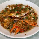 Very Tasty Steamed Crabs with Glass Vermicelli (500 - 700gms: $78++)