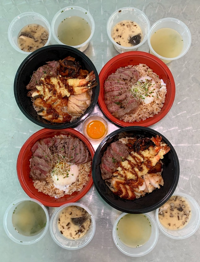 Their Premium Japanese Wagyu Beef Rice Bowls Are Now Available For Delivery And Self Pick-up.