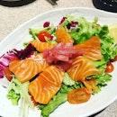 My big love - salmon sashimi.