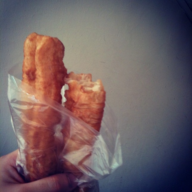 youtiao for #lunch #fried #breaddough