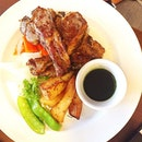 while she choosed a set of Lamb Chop for her #lunch dining.