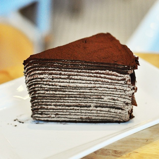 Chocolate Mille crepe.
