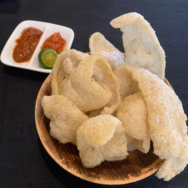 Keropok With Two Types Of Chili