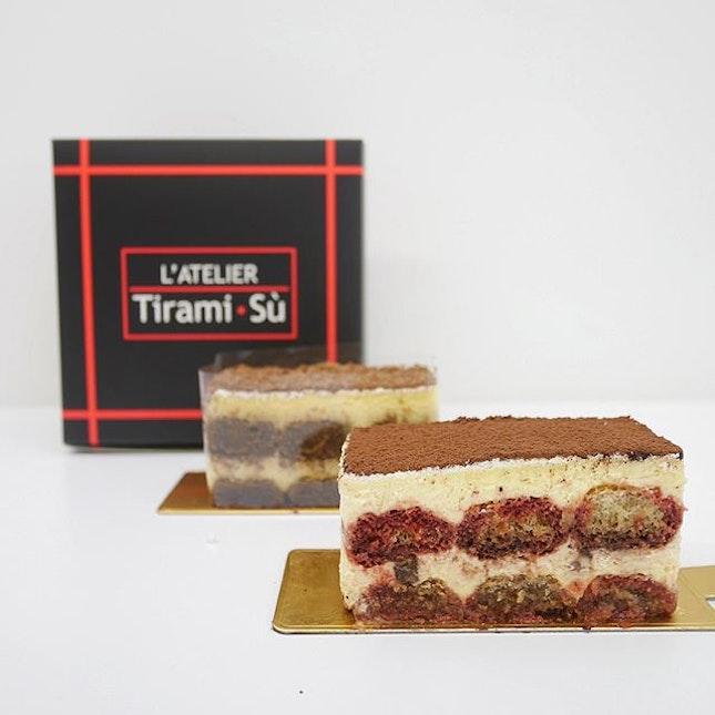 "Dark Cherry Tiramisu •SGD $7.20•  Happened to pass by this cafe ""L'Atelier Tiramisu"" and they mainly sell Tiramisu cake consisting flavours such as Classico, Dark Cherry, Matcha, Lychee, Pistachio and Creme Brûlée."