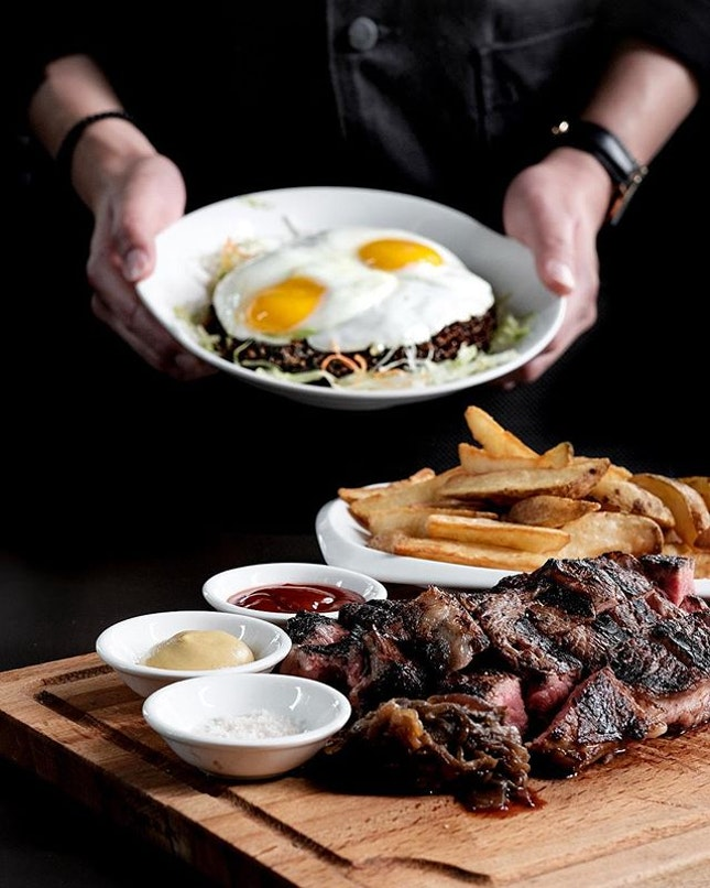 USDA Black Angus 'Choice' Rib-Eye •From $80 for 500gm• • If this is your first visit to New Ubin, you have to try their signature US Black Angus Rib-Eye Beef Steak that had garnered popularity among die-hard foodies.