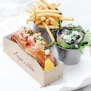 Original Lobster Roll •SGD 40++• • My recent visit to Burger & Lobster at Jewel Changi Airport is reminiscent of London's famed Burger and Lobster.