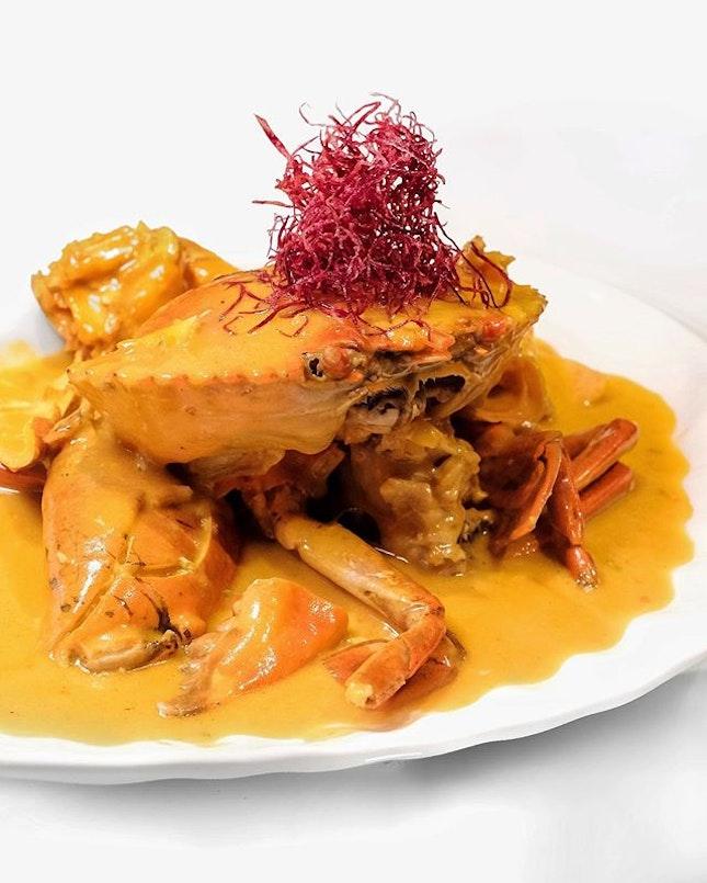 "Wok-fried Sri Lankan Crab with Homemade Pumpkin Sauce 南瓜焗螃蟹 •SGD10 per 100g• • This wok-fried Sri Lankan crab with a luscious homemade creamy pumpkin sauce will make you go ""oh crab!"