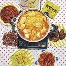 Kimchi stew prepare by sisters ..