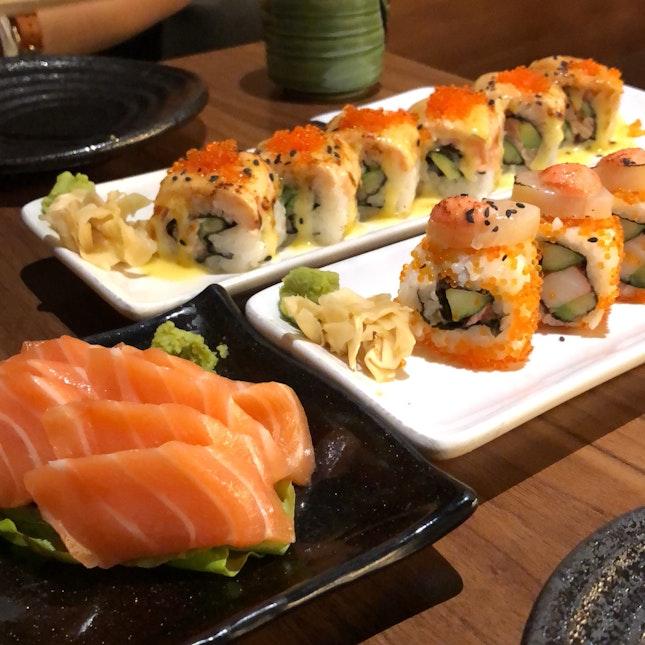 1-1 sushi rolls on wednesday