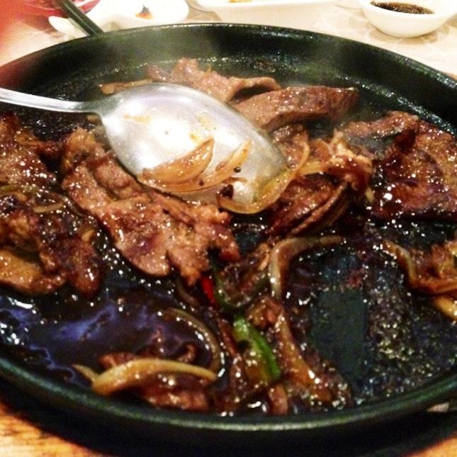 Flaming Kurobuta Pork In Special Sauce