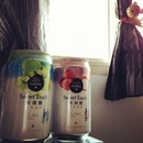 Taiwan fruits flavored beers on a hot afternoon 🍻🍻 certainly are Ang moh Liang teh Lololo