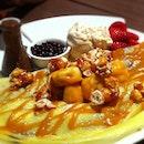 Hazulnut Cream Banana Toffee Nut Crepe #rachfoodadventure