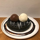 Charcoal Waffle With Dark Chocolate & Apiary Ice Cream $15.50
