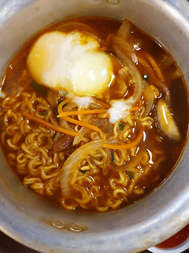 Egg And Mushroom Ramyeon