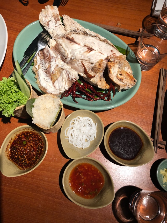 Rock Salted Baked Fish (Miang Pla Pao)