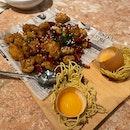 Mala Chicken With Egg Yolk