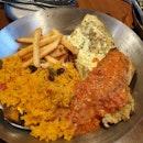 Grilled White Fish + Grilled Salmon + Peri-Peri Rice