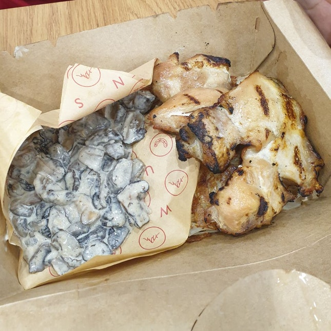 BYO Chicken Schnitzel + Rosti + Creamy Mushrooms ($17.90)