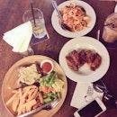 Seafood Marinara, Chicken Chop With Mushroom Sauce & Buffalo Wings